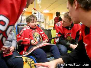 Senators' pre-Christmas visit to CHEO welcome sight for patients: 'You feel for the kids'