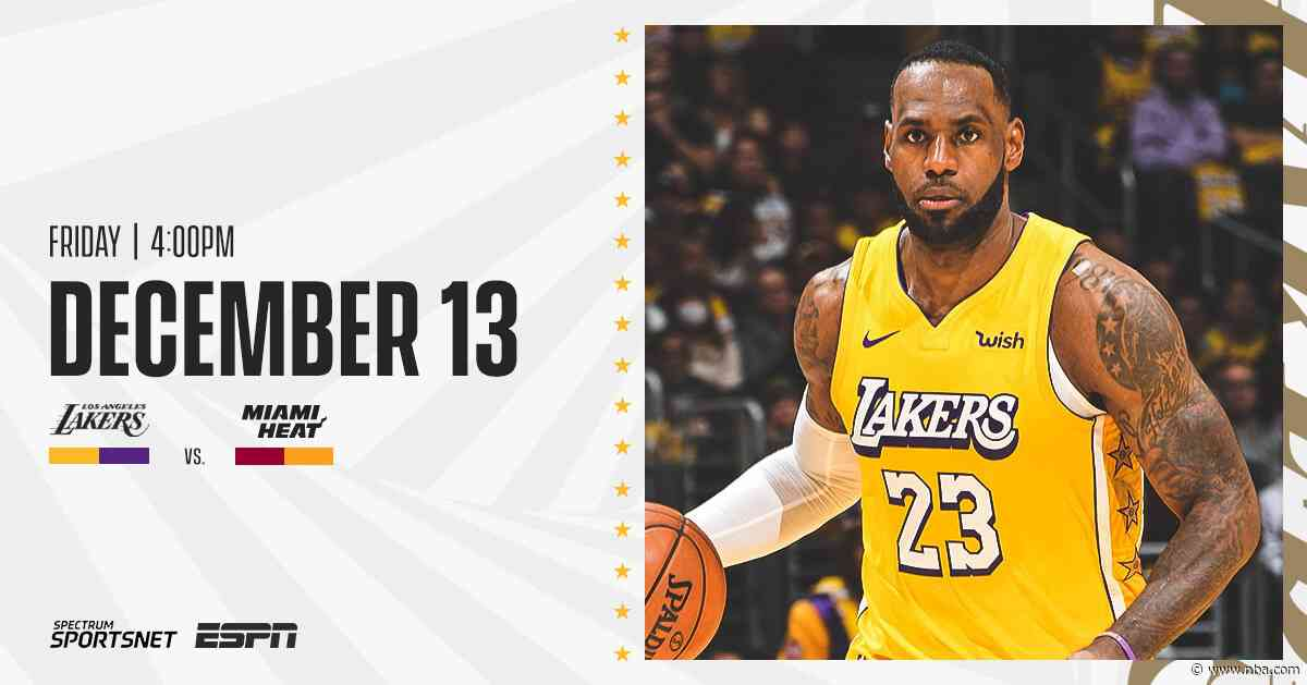 Lakers at Heat: 3 Things to Know (12/13/19)