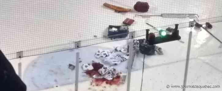 Un gardien grièvement coupé à une jambe en OHL