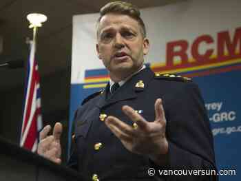 Surrey's new top cop looking forward to the challenge, even if it is short-lived