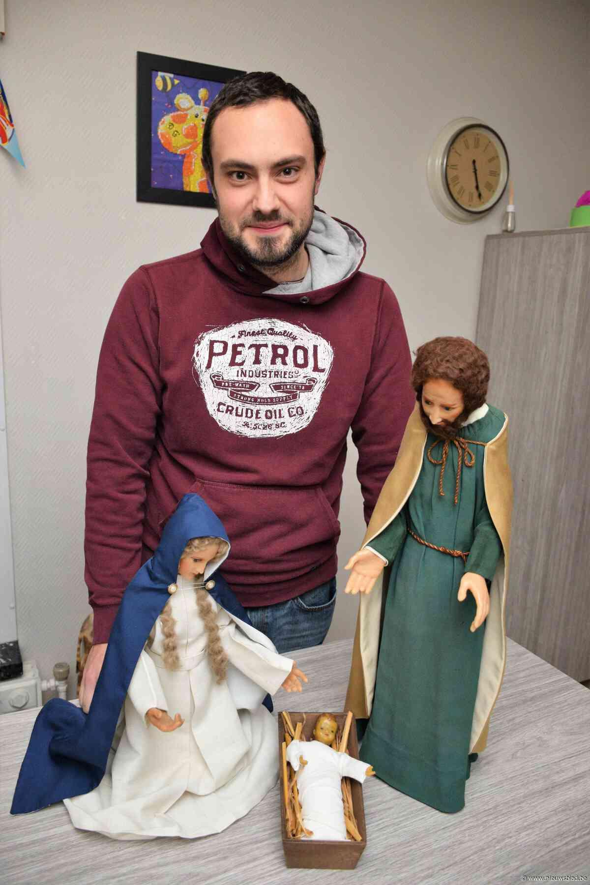 Michael Moyaert is gepassioneerd door kerststallen & kerstbeelden