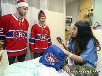 Stu Cowan: Canadiens bring some cheer to Montreal Children's Hospital