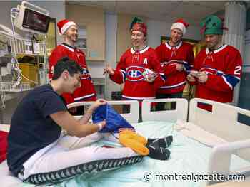 #ICYMI: Habs visit Montreal Children's Hospital, don't expect a snowy Christmas