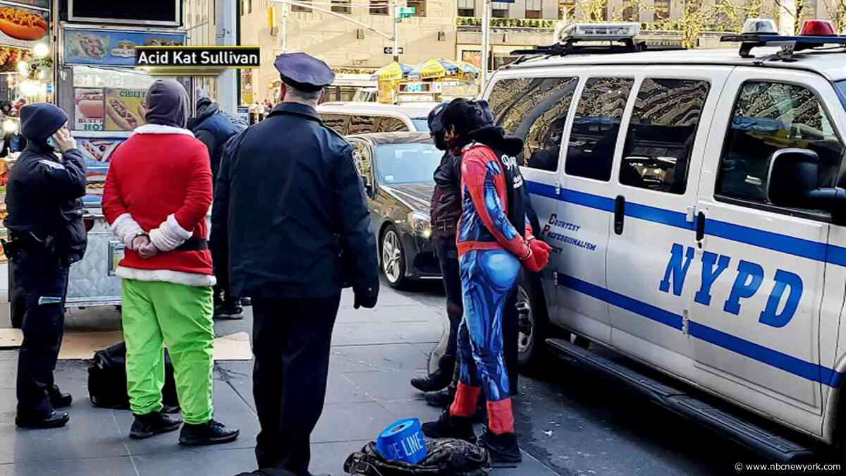 Grinch, Spider-Man in Cuffs After Getting in Way of Rockefeller Center Tree-Goers