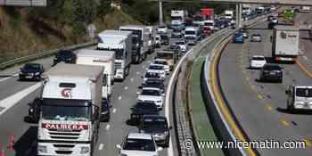 Deux accidents sur l'A8 en direction de Nice ce vendredi matin dans le Var