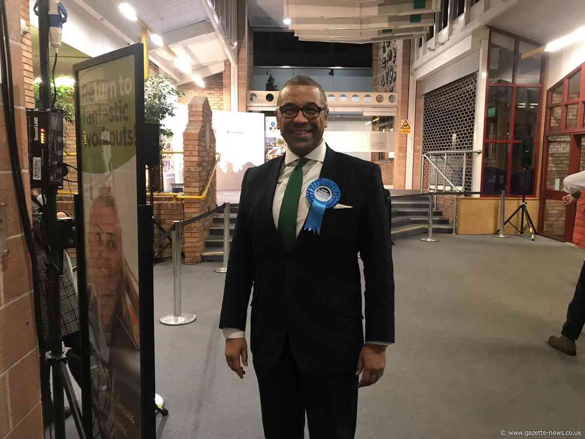 James Cleverly increases majority as he retains Braintree seat in General Election