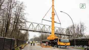 Fußgängerbrücke an der Reichsstraße wird demontiert