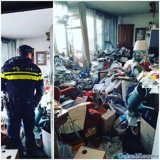 Wijkagent deelt foto van ernstig vervuilde woning
