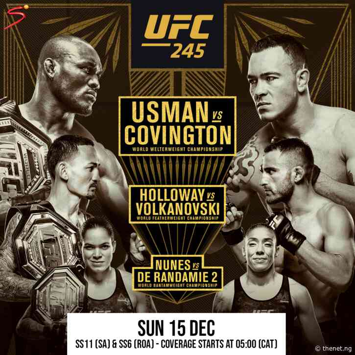 Will Nigerian-American UFC Welterweight Champion, Kamaru Usman Retain His Title This Weekend in UFC 245?