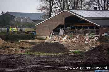 Muur van koeienstal in Hall grotendeels ingestort