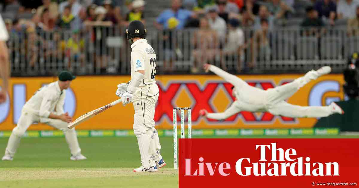 Australia v New Zealand: first Test, day two – as it happened