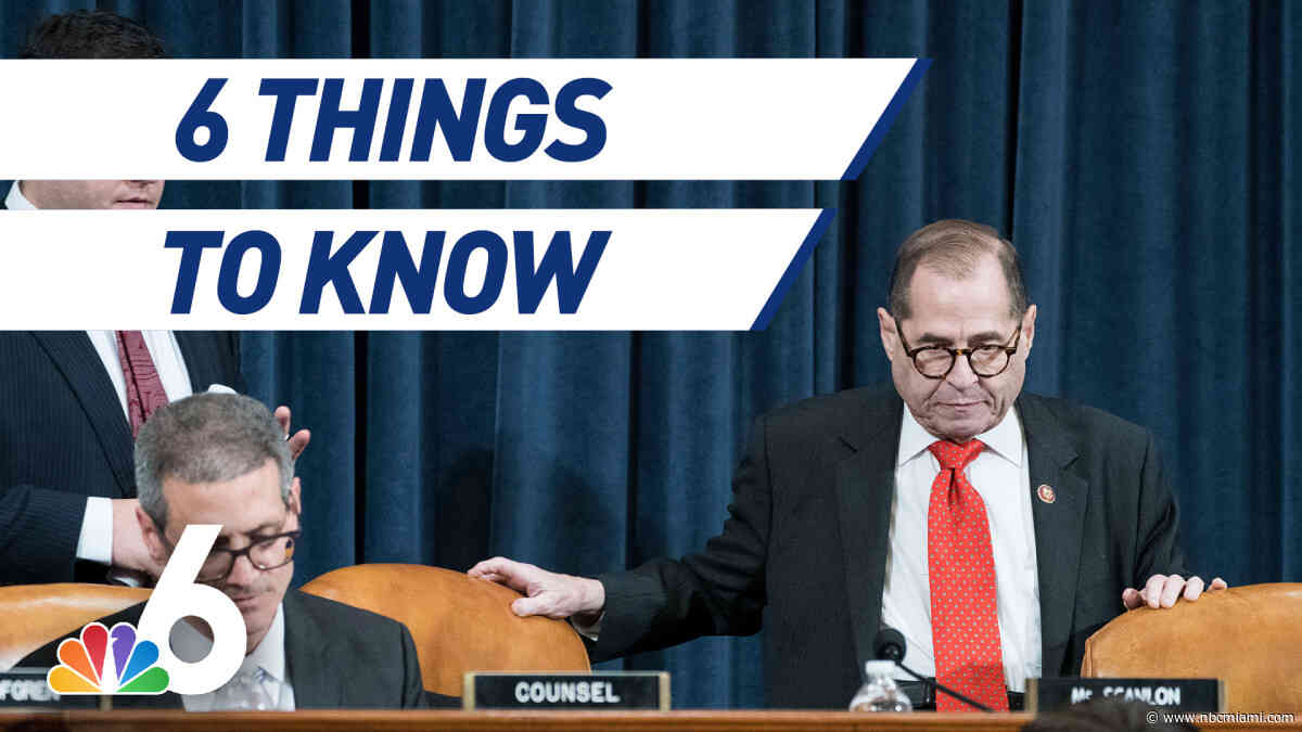 6 Things to Know- Impeachment Vote Delayed, Man Killed in Hit And Run