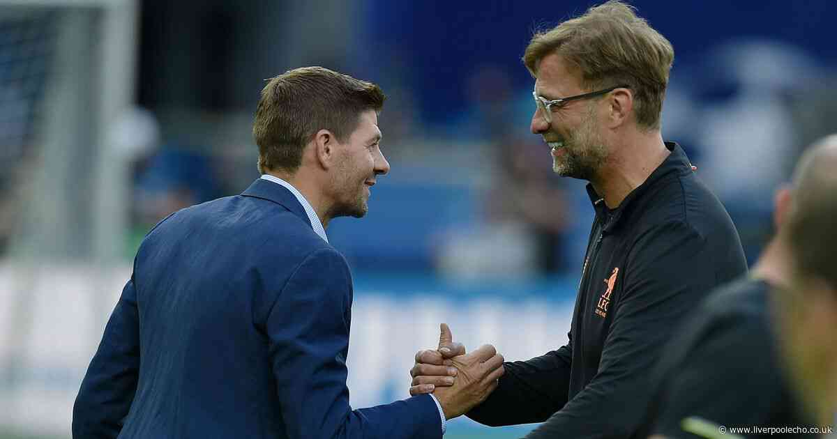 Steven Gerrard's two word response to Jurgen Klopp's Liverpool contract extension