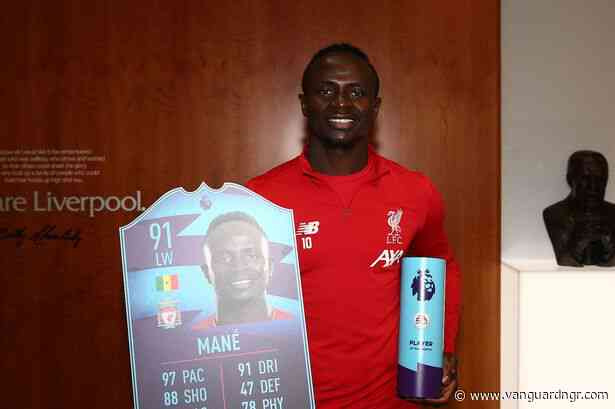 Liverpool star Mane scoops Premier League award