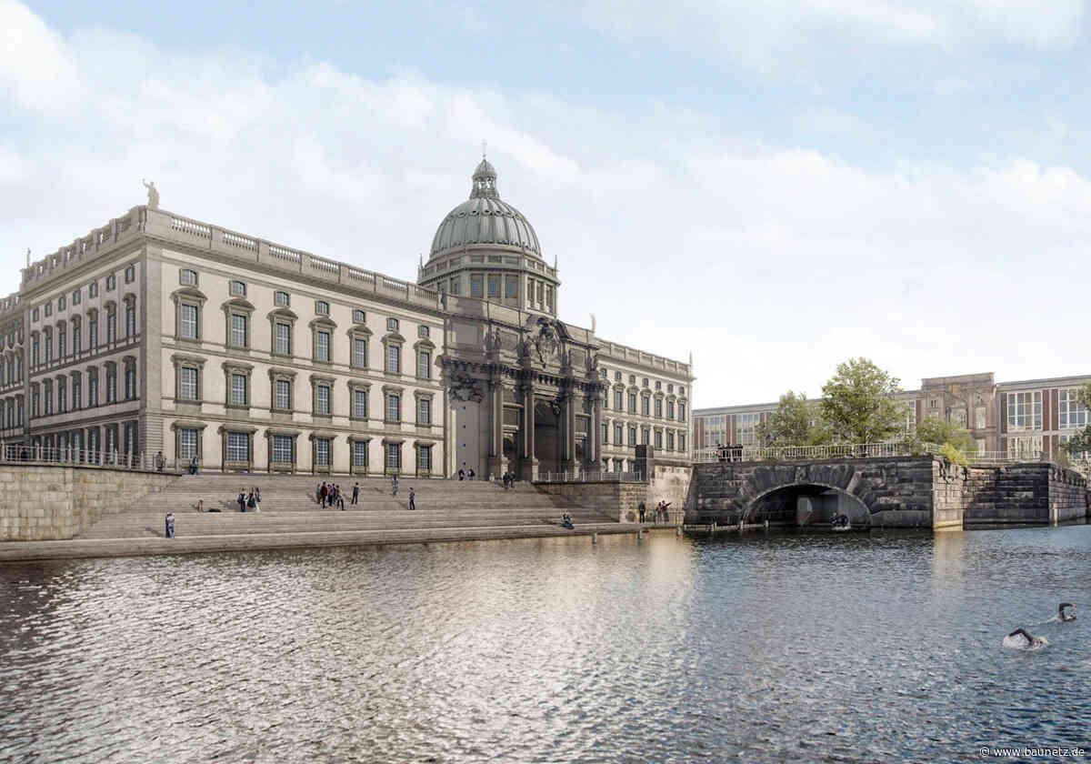 Treppe zum Spreekanal  - Berliner Flussbad kommt