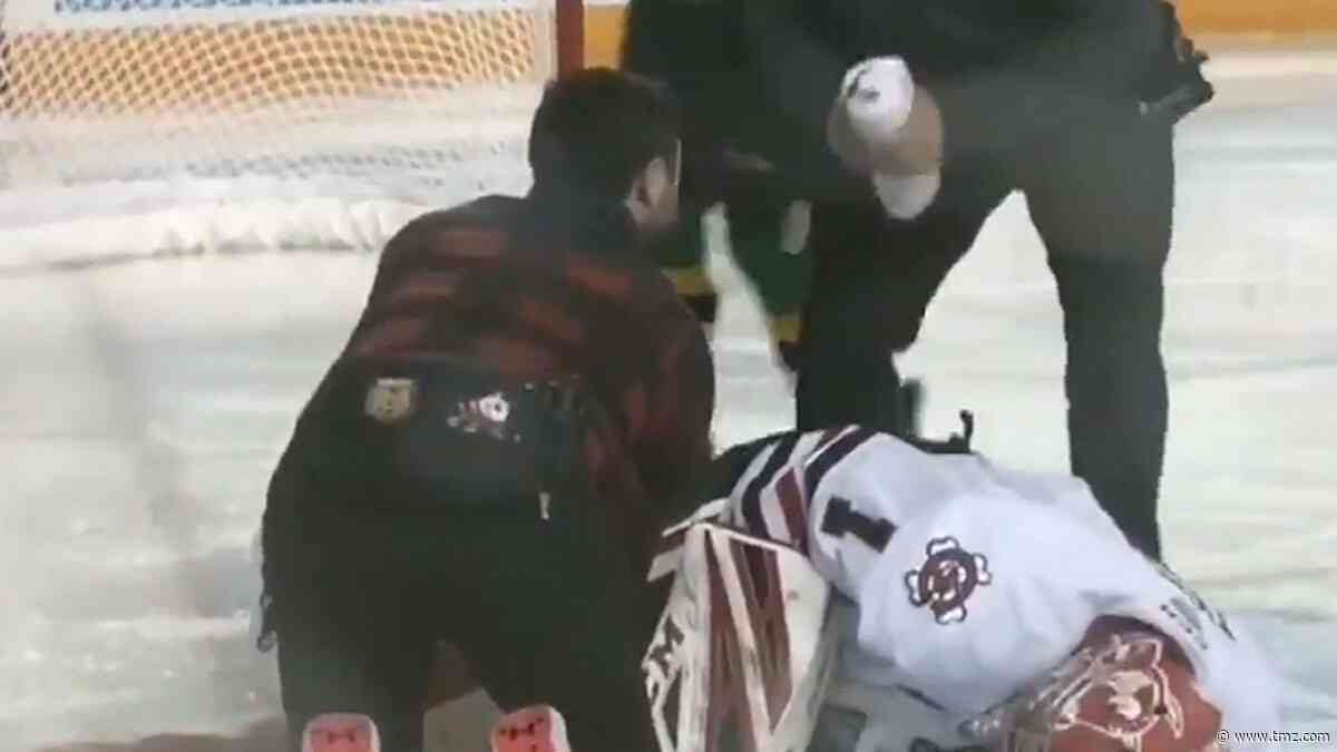 Ontario Hockey League Goalie Severely Cut By Skate In Game, Rushed To Surgery