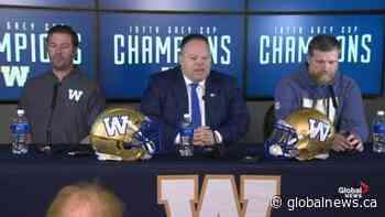 Winnipeg Blue Bombers announce contract extension for GM, head coach