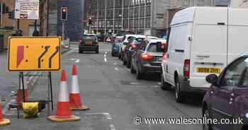 Long queues in Swansea city centre caused by lane closure for Kingsway scheme roadworks