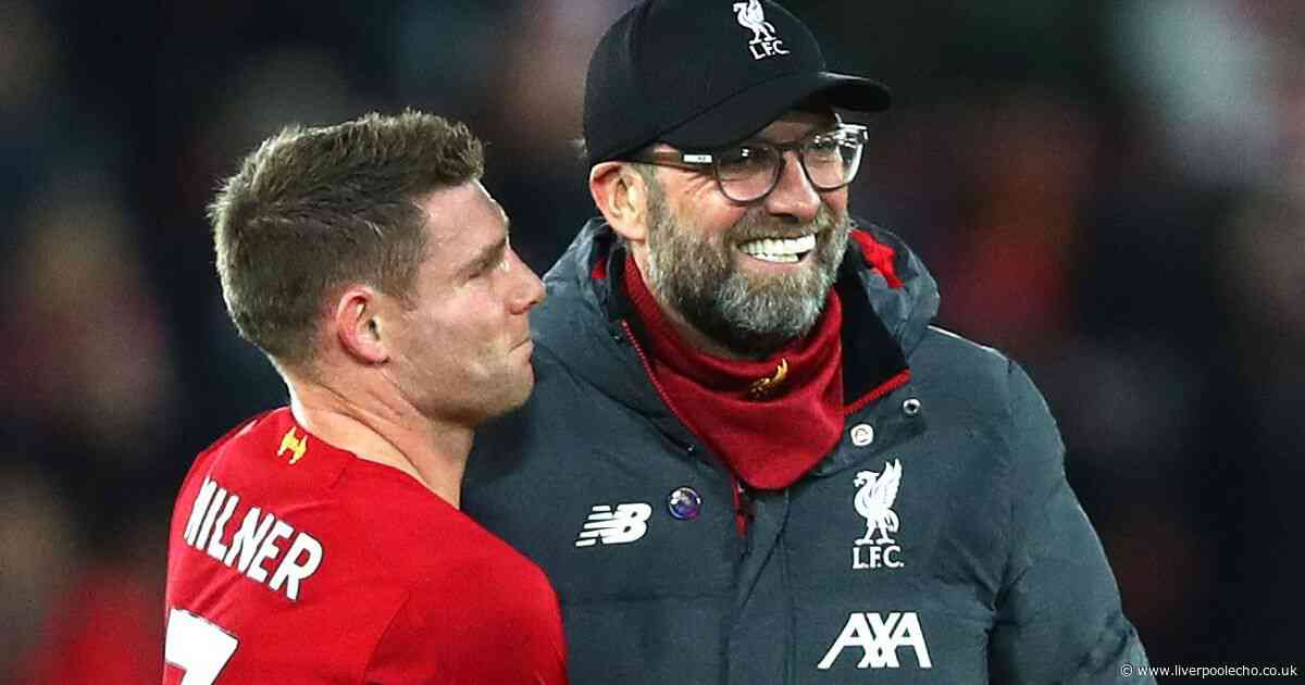 Jurgen Klopp speaks out on James Milner's new Liverpool contract and gives Barcelona example