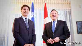Bill 21, free trade deal top agenda as Trudeau, Legault meet in Montreal