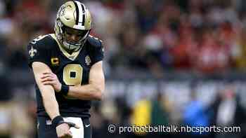 Drew Brees on injury report with right elbow issue, fully participates in practice