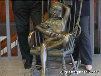 Iconic 'Girl With Cat' sculpture installed at Nutrien Wonderhub