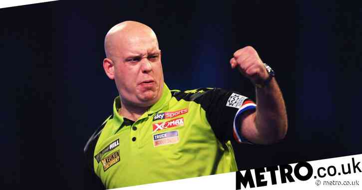 Michael van Gerwen hits 170 checkout during victory over Jelle Klaasen