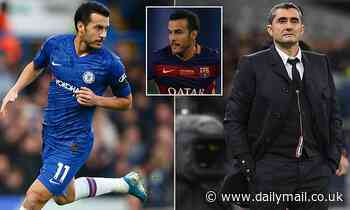 Barcelona boss Ernesto Valverde opens the door for Pedro to return to Nou Camp if he leaves Chelsea