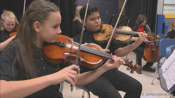 Evans School Gets Big Donation: Musical Instruments For Students