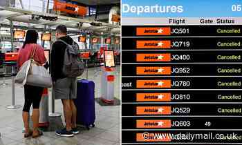 Let's NOT fly Jetstar: Grim sign as almost EVERY morning flight is cancelled in worker dispute