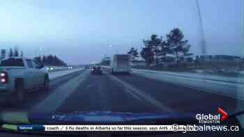 Edmonton roads slippery on Friday afternoon