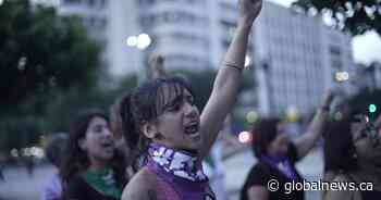 'The Rapist is You': anthem condemning sexual violence spreads across Latin America