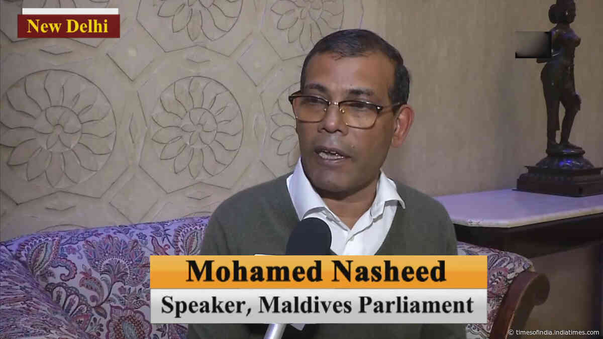 Chinese debt trap a 'serious case': Maldives Parliament Speaker Mohd Nasheed