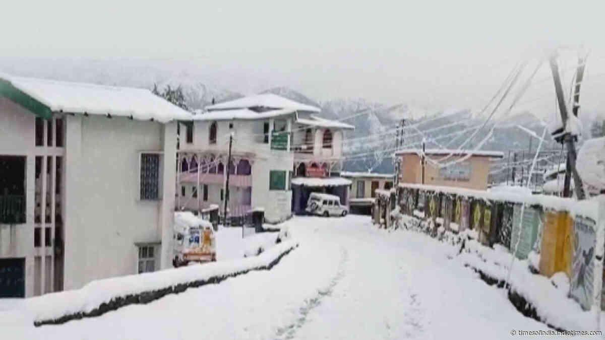 Heavy snowfall witnessed in Uttarakhand's Pithoragarh