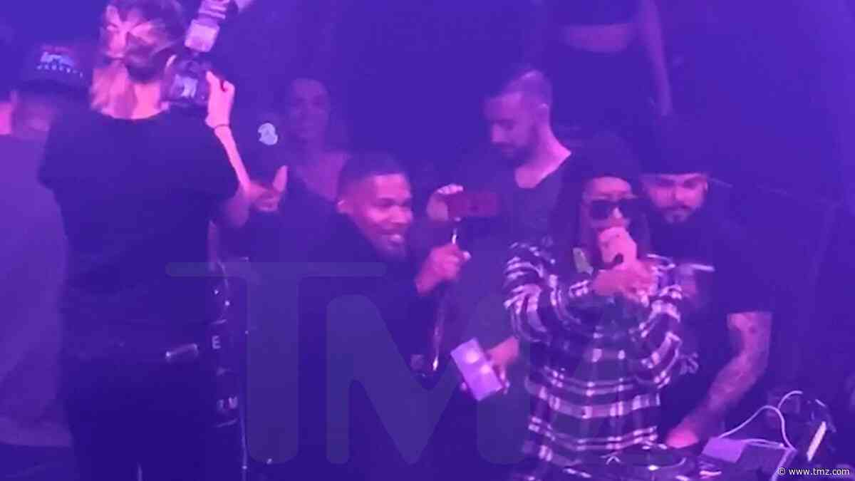 Jamie Foxx Rings in 52nd Birthday by Chugging Tequila with Lil Jon