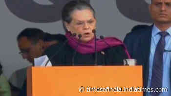 Modi-Shah not bothered that Citizenship Amendment Act will shred India's soul: Sonia Gandhi