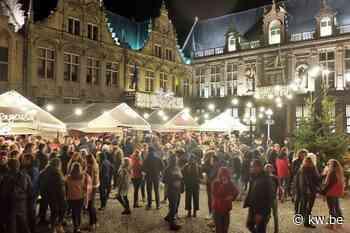 Kerstdorp de Grote Markt in Veurne feestelijk geopend