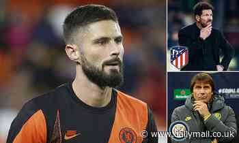 Inter Milan and Atletico Madrid could make move for out-of-favour Chelsea striker Olivier Giroud