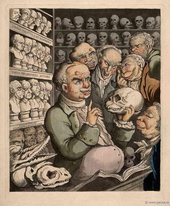De man die honderden schedels van dieven en moordenaars betastte