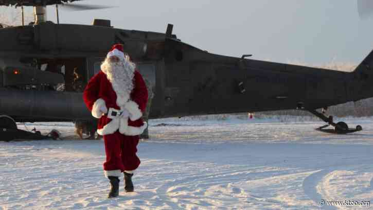 Santa Claus is coming to town — in a Black Hawk helicopter