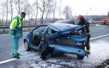 Update: Meerdere auto's botsen op elkaar op A7 bij Duitse grens, weg weer vrijgegeven