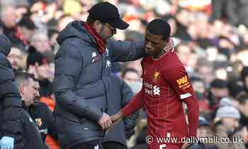Wijnaldum could miss the Club World Cup after picking up a muscle injury, according to Jurgen Klopp