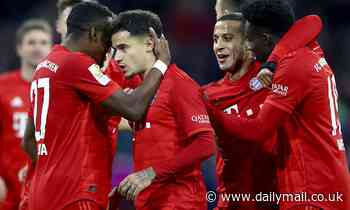 Philippe Coutinho scores hat-trick as Bayern Munich romp to 6-1 victory over Werder Bremen