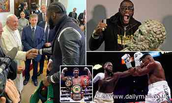 Deontay Wilder meets Pope and sends message to Anthony Joshua about unifying titles in the future