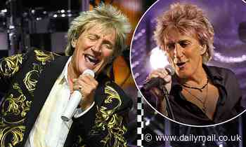 Sir Rod Stewart, 74, officially becomes oldest male solo artist to have a number one album in the UK