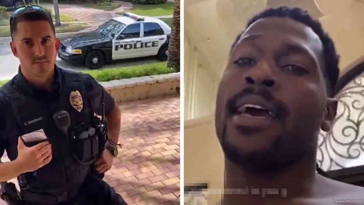Antonio Brown's House Surrounded by Cops for Baby Mama's 'Civil Standby'