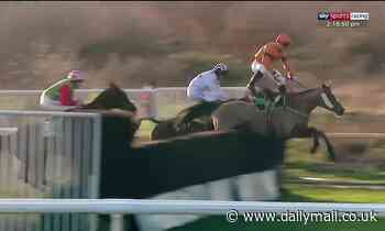 Incredible save by Joe Colliver wins the day for Sam Spinner at Novices' Chase in Doncaster