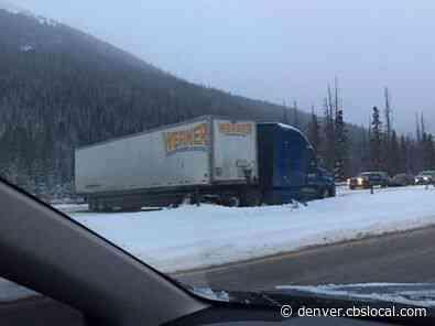 Snowy Drive: Jackknifed Semis Cause Multiple Closures Along I-70 Through Mountain Corridor