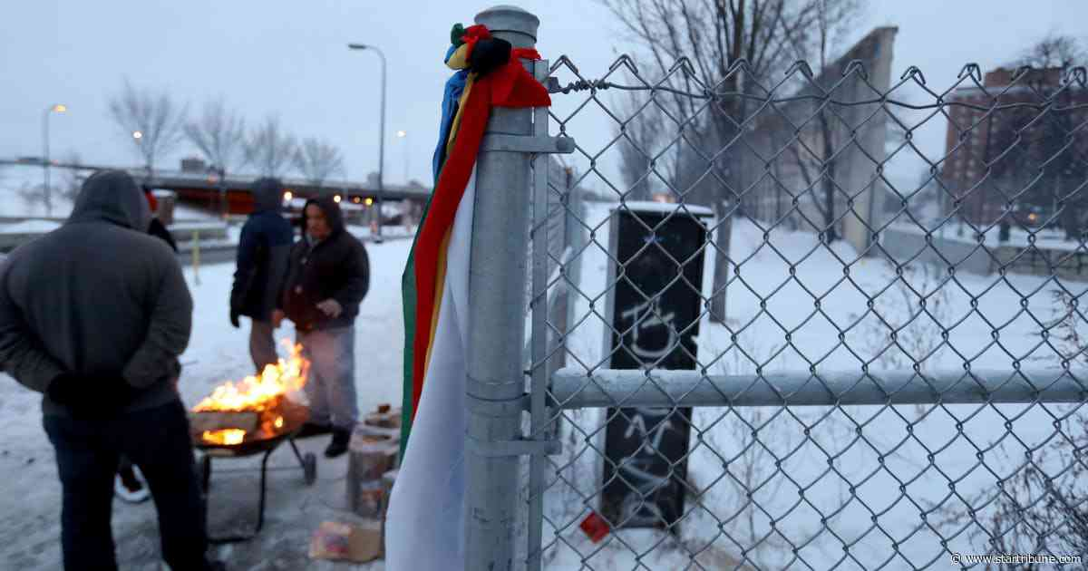 Indian activists continue occupation of Minneapolis homeless camp, demand more shelter beds