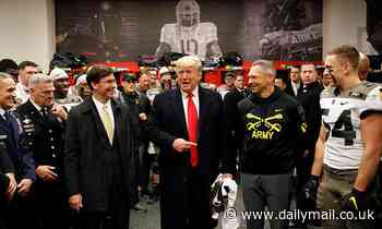Donald Trump receives a huge ovation from 70,000 fans at Army-Navy football game